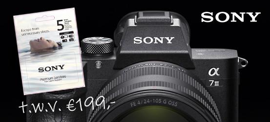 Bij Sony A7 III gratis DIBOXCC5 twv 199,-