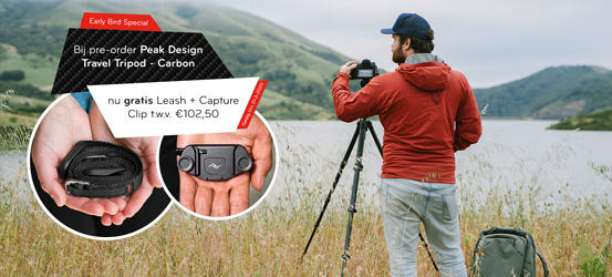 Gratis Peak Design Leash en Capture Clip bij Pre-Order