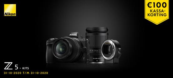 Nu €100 korting op alle Nikon Z5 kits