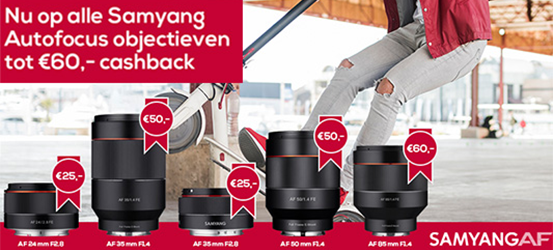 Samyang Sony FE Cashback