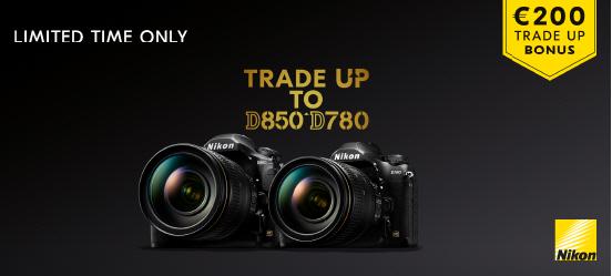Nikon D780/D850 Trade-Up promotie