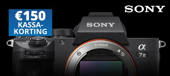 €150,- kassakorting op de Sony A7 III