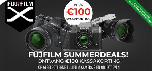 €100 kassakorting op Fujifilm camera's en objectieven!