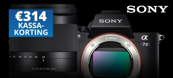 €314,- kassakorting op de Sony A7 II + 24-240