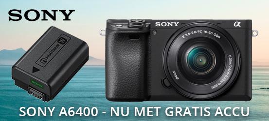 Sony A6400 nu met gratis NPFW50 accu