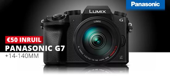Ontvang 50 euro inruilkorting op een Panasonic G7 + 14-140mm