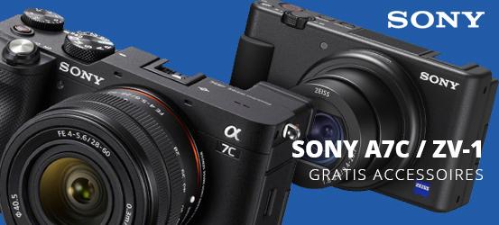 Gratis microfoon of grip bij aankoop van de Sony A7C en ZV-1