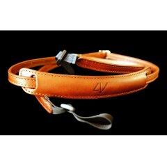 4V Design Lusso Slim Neck Strap Tuscany Leer - Brown/Brown