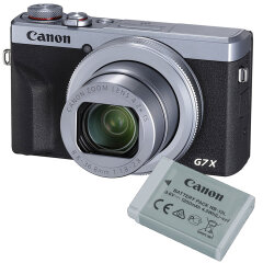 Canon PowerShot G7X Mark III Zilver Battery kit