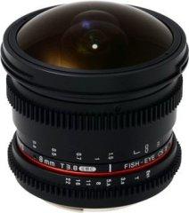 Samyang 8mm T3.8 Diagonal Fisheye VDSLR CS-II Canon