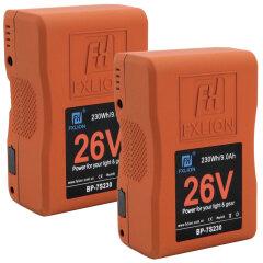 Fxlion BP-7S230 26V 230WH V-Lock Battery - 2 stuks