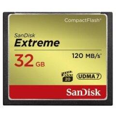 Sandisk CF 32GB Extreme 120MB/s 85MB write UDMA 7