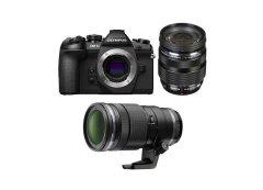 Olympus E-M1 Mark II Dubbele Zoom Kit PRO + 12-40mm Pro + 40-150mm Pro