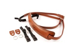 4V Design Lusso Medium Neck Strap Tuscany Leer - Brown/Cyan