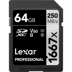 Lexar SDXC Professional 64GB 1667x UHS-II