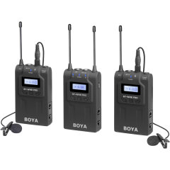 Boya BY-WM8 Pro-K2 UHF Duo Lavalier Microfoon Draadloos