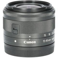 Tweedehands Canon EF-M 15-45mm f/3.5-6.3 IS STM - Zwart CM3241