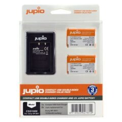 Jupio Kit: 2x Battery NP-BX1 + Comp.USB Double-Sided Charger