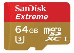 SanDisk MicroSDHC Extreme Pro 64GB 170mb / 90mb,U3,V30,A2