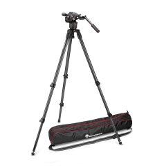 Manfrotto Nitrotech N8 Fluid Video + 535 Single Leg Kit