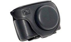 ONE OC-LX3B Leathercase Zwart voor Panasonic LX3/LX5