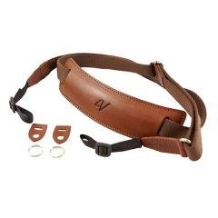 4V Design Lusso Large Neck Strap Tuscany Leer - Brown/Brown