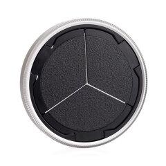 Leica D-lux 7 auto lens cap silver/black