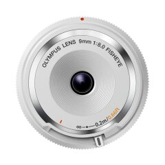 Olympus Body Cap lens 9mm f/8.0 Fisheye - Wit