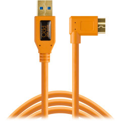 Tether Tools TetherPro USB 3.0 A male naar Micro B Right Angle - 15' Oranje