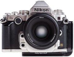 Really Right Stuff BDf-L L bracket voor de Nikon DF Zilver