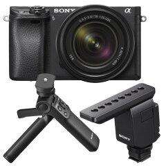Sony A6600 + 18-135mm + ECM-B1M Microfoon + GP-VPT2BT Grip