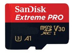 Sandisk MicroSDXC Extreme Pro 100MB/s V30 + SD adapter - 32GB