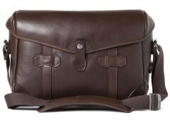 Barber Shop Pageboy - Small Messenger Dark Brown Leather