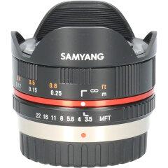 Tweedehands Samyang 7.5mm f/3.5 UMC Micro 4/3 - Zwart CM1708