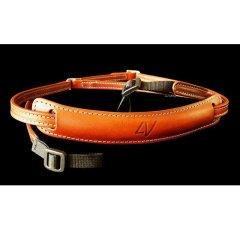 4V Design Lusso Slim Neck Strap Tuscany Leer - Brown/Cyan