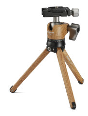 Demomodel Leofoto Pocket Mini Tripod MT-01 + Ballhead LH-25 Wood