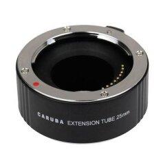 Caruba Tussenring 25mm voor Olympus Four Thirds Chroom