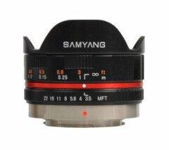 Samyang 7.5mm f/3.5 UMC Micro 4/3 - Zwart