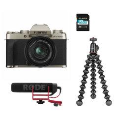 Fujifilm X-T200 Gold + XC15-45mm Vlogger Kit