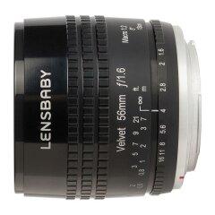 Lensbaby Velvet 56 Fuji X - Zwart
