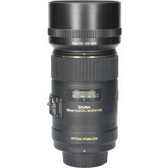 Tweedehands Sigma 105mm f/2.8 EX DG OS HSM Macro Nikon CM1128