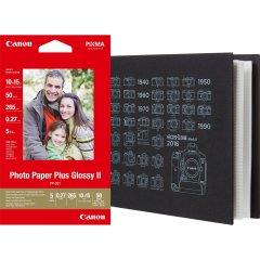 Canon PP-201 Glossy II Photo Paper Plus 10 x 15 cm - 50 vel + MC-PA001 Photo Album, 10x15 cm (36 foto's)