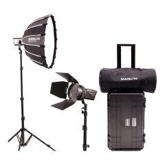 Nanlite Forza 60 LED dual kit met lightstand, softbox, fresnel en koffer