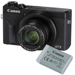 Canon PowerShot G7X Mark III Zwart Battery kit