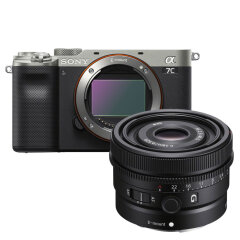 Sony A7C Zilver + 28-60mm + 40mm
