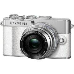 Olympus E-P7 White + EZ-M14-42EZ Silver
