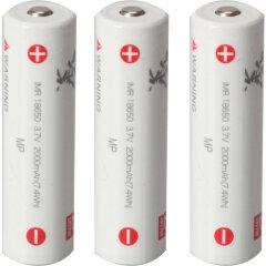 Zhiyun Battery 2600mAh 3-pack IMR18650 voor Zhiyun Crane 3 LAB