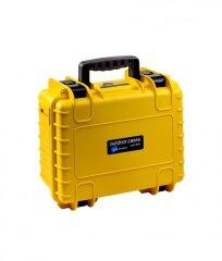 B&W Outdoor Cases Type 3000 - Geel met Vakverdeler