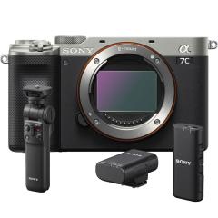 Sony A7C Body Zilver + ECM-W2BT + GP-VPT2BT