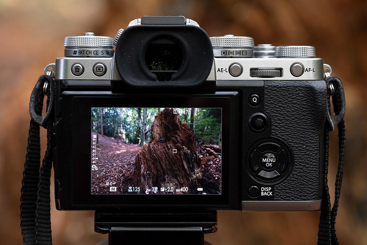 diafragma instelling Fujifilm X-T3
